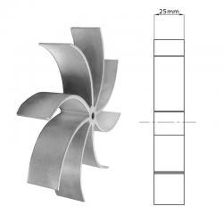 Waaier t.b.v. Fandis rookgasventilator 25 mm